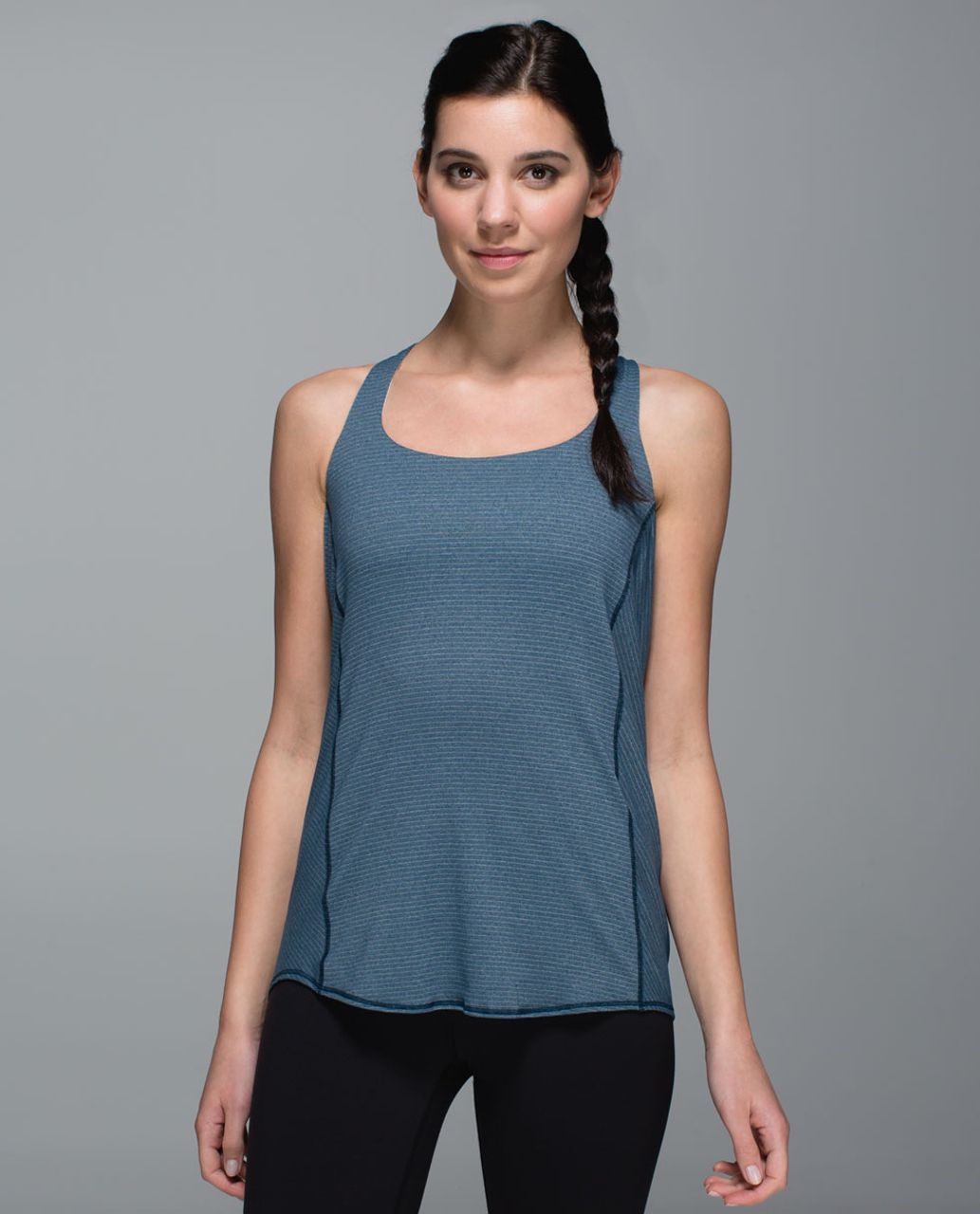 Lululemon Wild Tank - Heathered Alberta Lake / Pebble Print Parfait Pink Alberta Lake