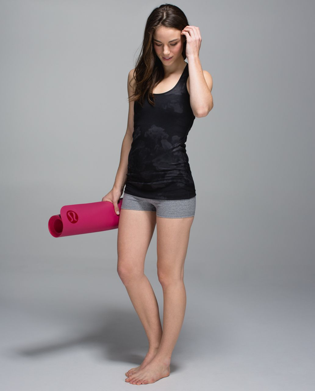 Lululemon Cool Racerback - Dream Rose Deep Coal Black