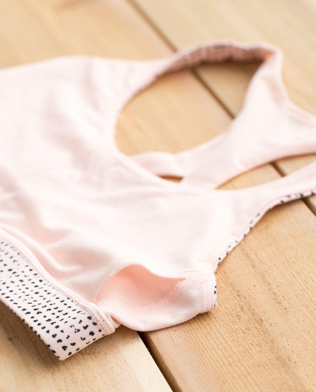 Lululemon 50 Rep Bra - Speckle Dot Parfait Pink Black / Parfait Pink
