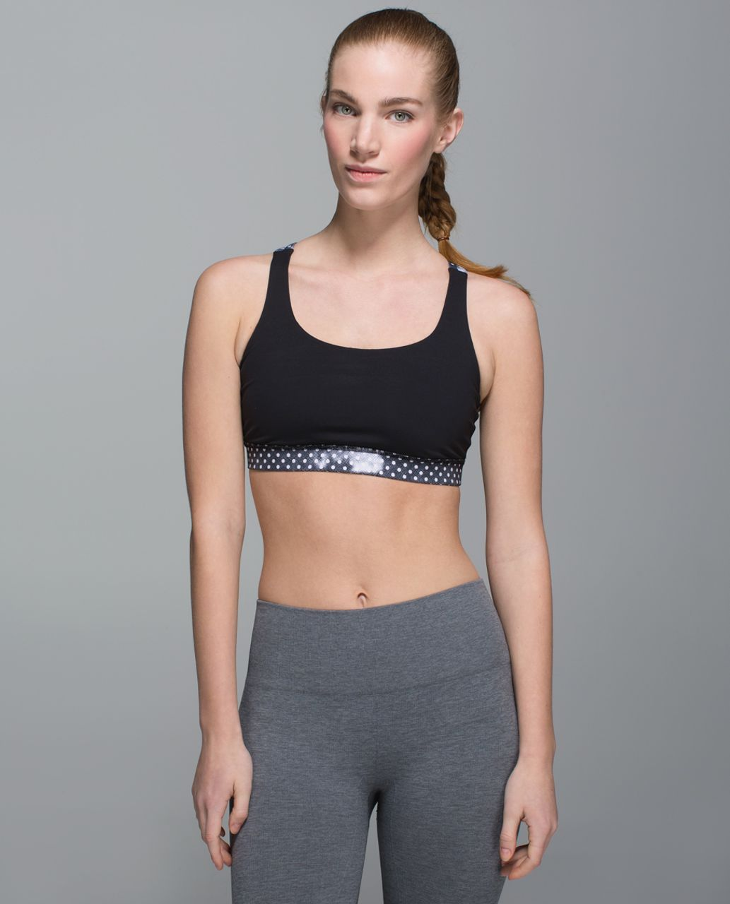 Lululemon Energy Bra - Black / Dream Rose Stripe Neutral Blush Black