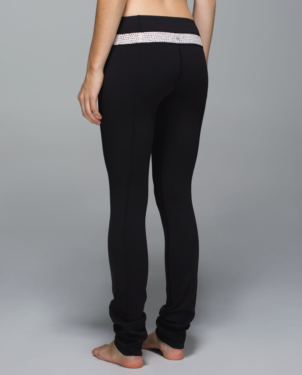 81133f7b7 Lululemon Skinny Groove Pant  Full-On Luon - Black   Speckle Dot Parfait  Pink Black - lulu fanatics