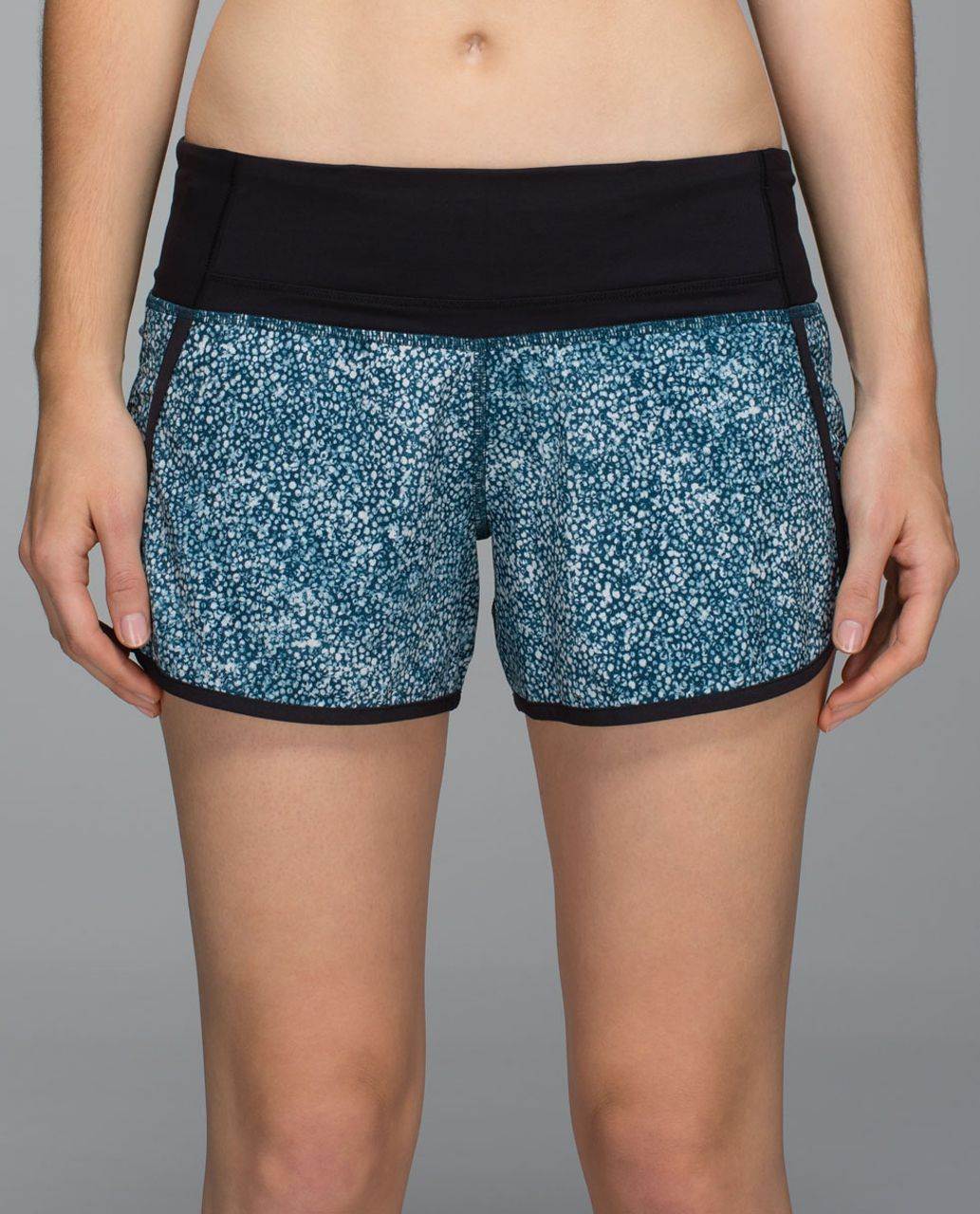Lululemon Run Times Short *4-way Stretch - Pebble Print Parfait Pink Alberta Lake / Black