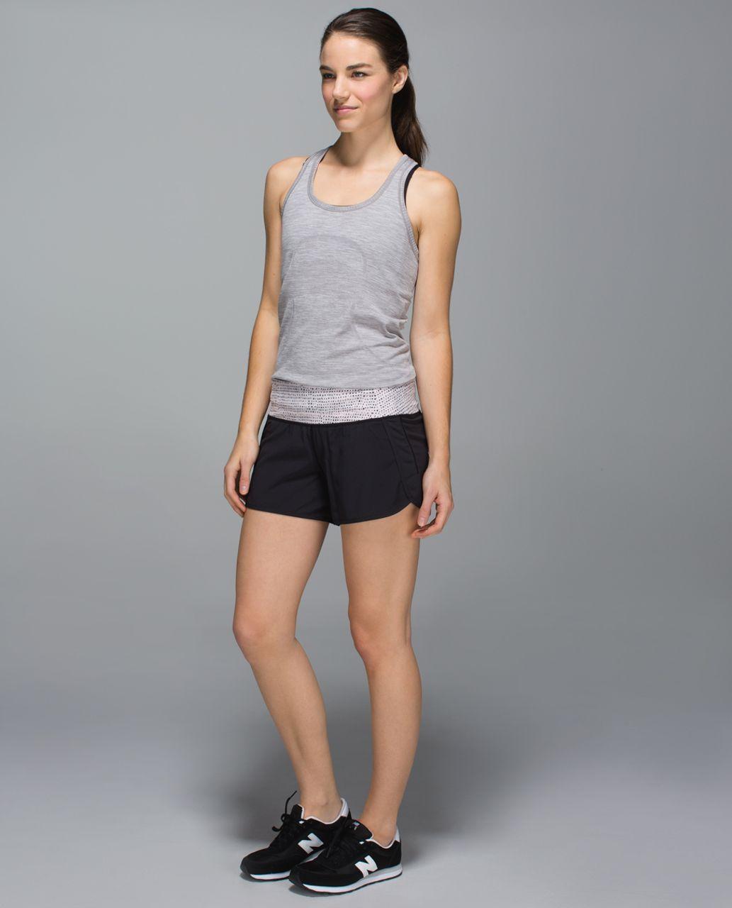 Lululemon Run Times Short *4-way Stretch - Black / Speckle Dot Parfait Pink Black