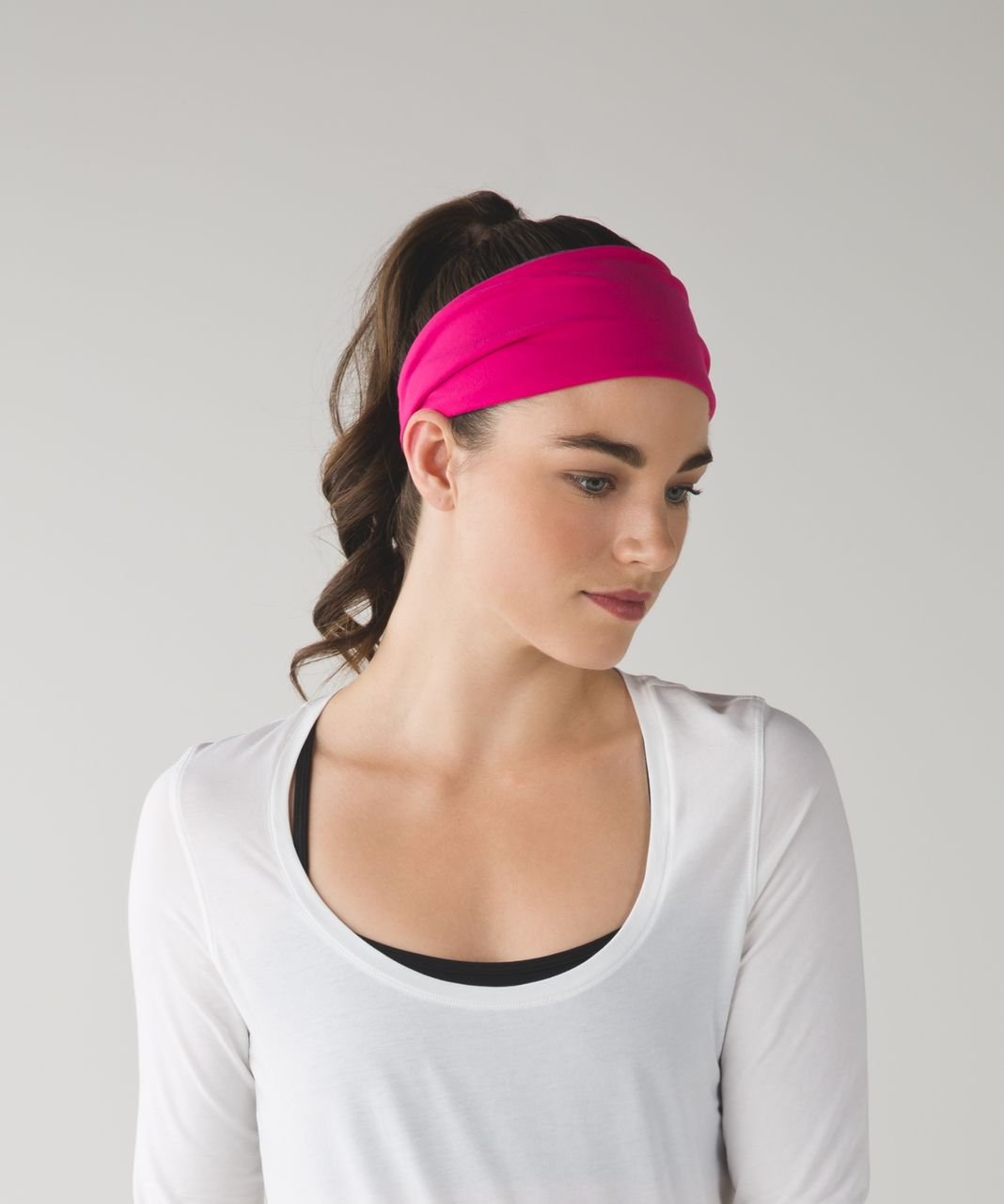 Lululemon Fringe Fighter Headband - Jewelled Magenta / Heathered Berry Rumble