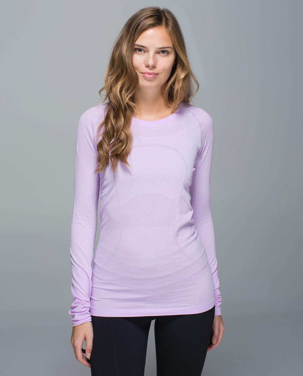 Lululemon Run:  Swiftly Tech Long Sleeve Crew - Heathered Pretty Purple