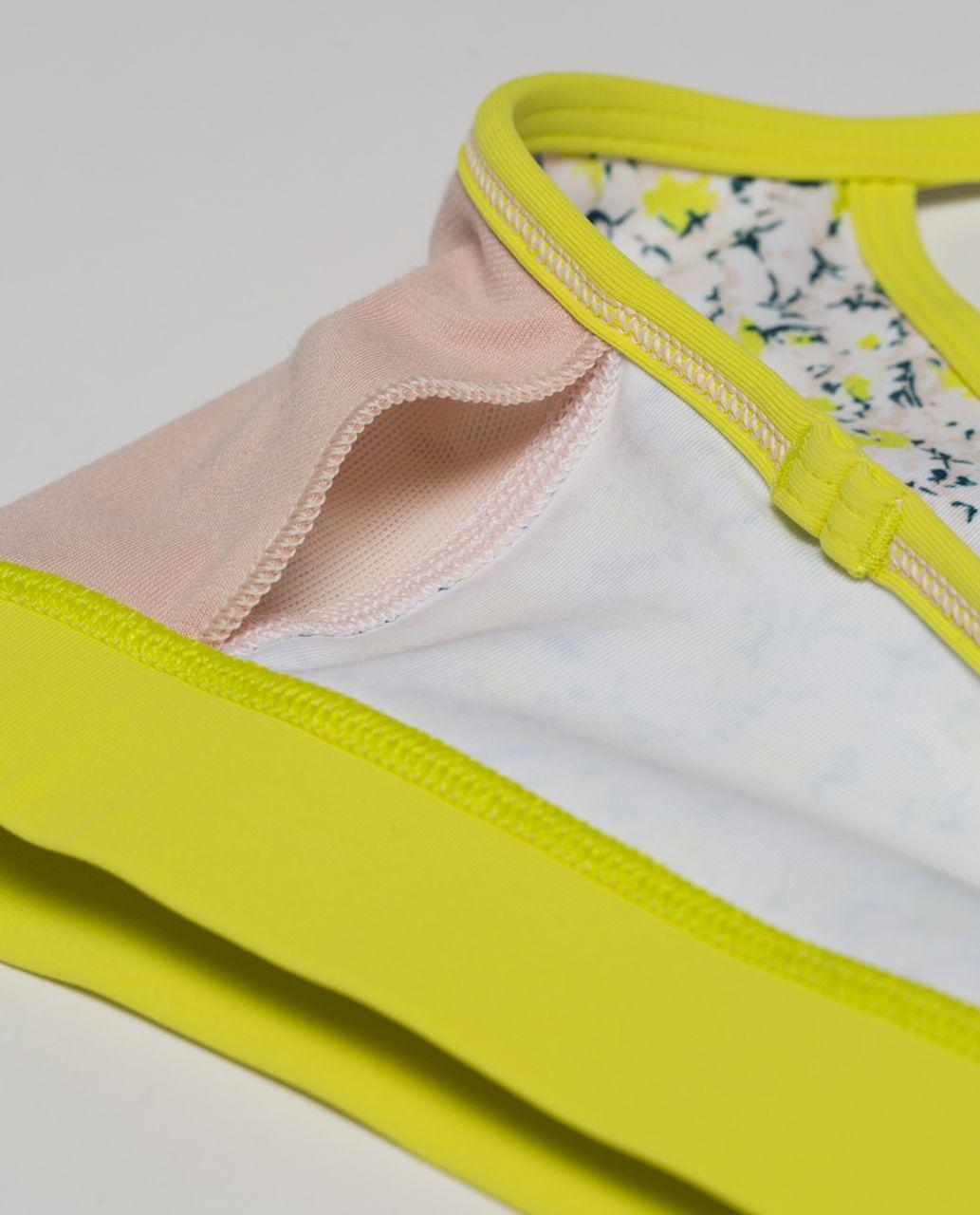 Lululemon Flow Y Bra IV - Fresh Fleur Neutral Blush Split Pea / Split Pea