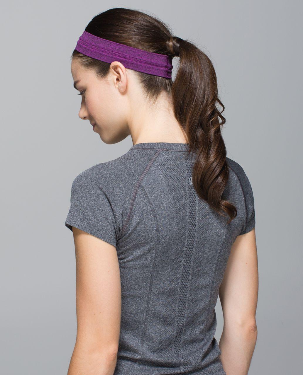 Lululemon Swiftly Headband - Heathered Ultra Violet / Black