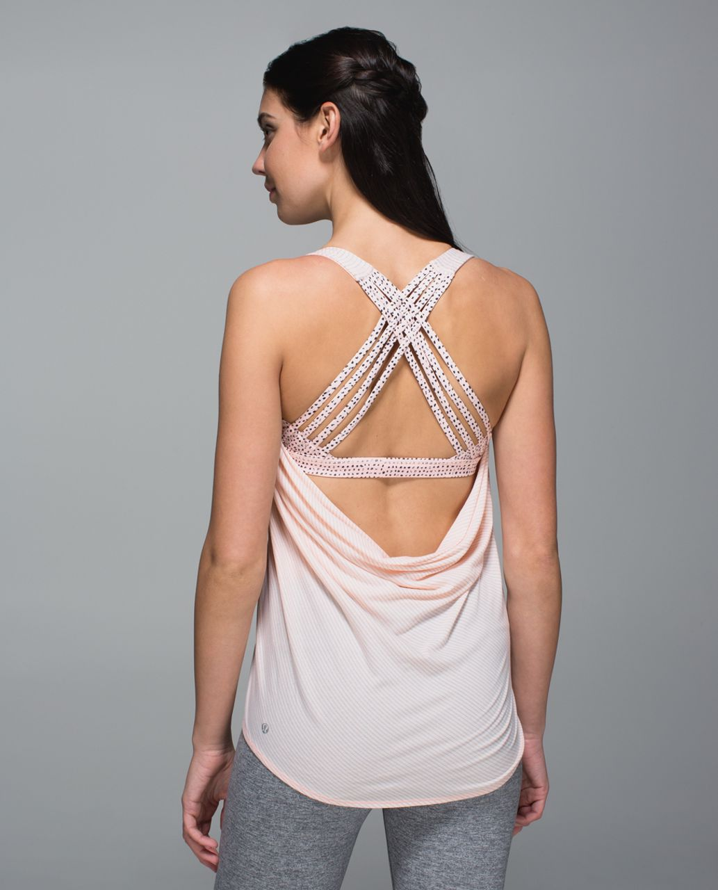 Lululemon Wild Tank - Heathered Parfait Pink / Speckle Dot Parfait Pink Black