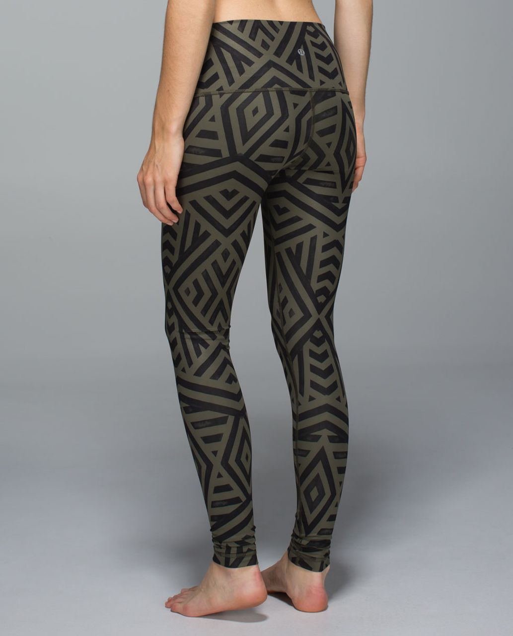 Lululemon Wunder Under Pant *Full-On Luxtreme (Roll Down) - Chevron Shuffle Fatigue Green Black