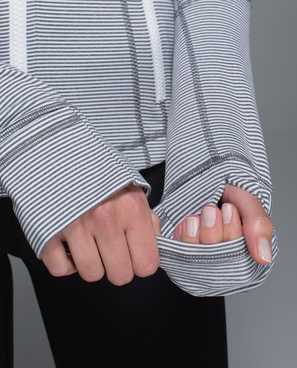 Lululemon Define Jacket - Tonka Stripe Heathered Slate White