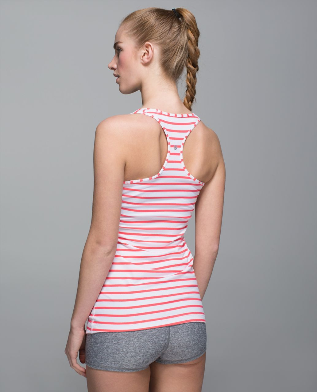 Lululemon Cool Racerback - Yachtie Stripe Printed White Flash Light