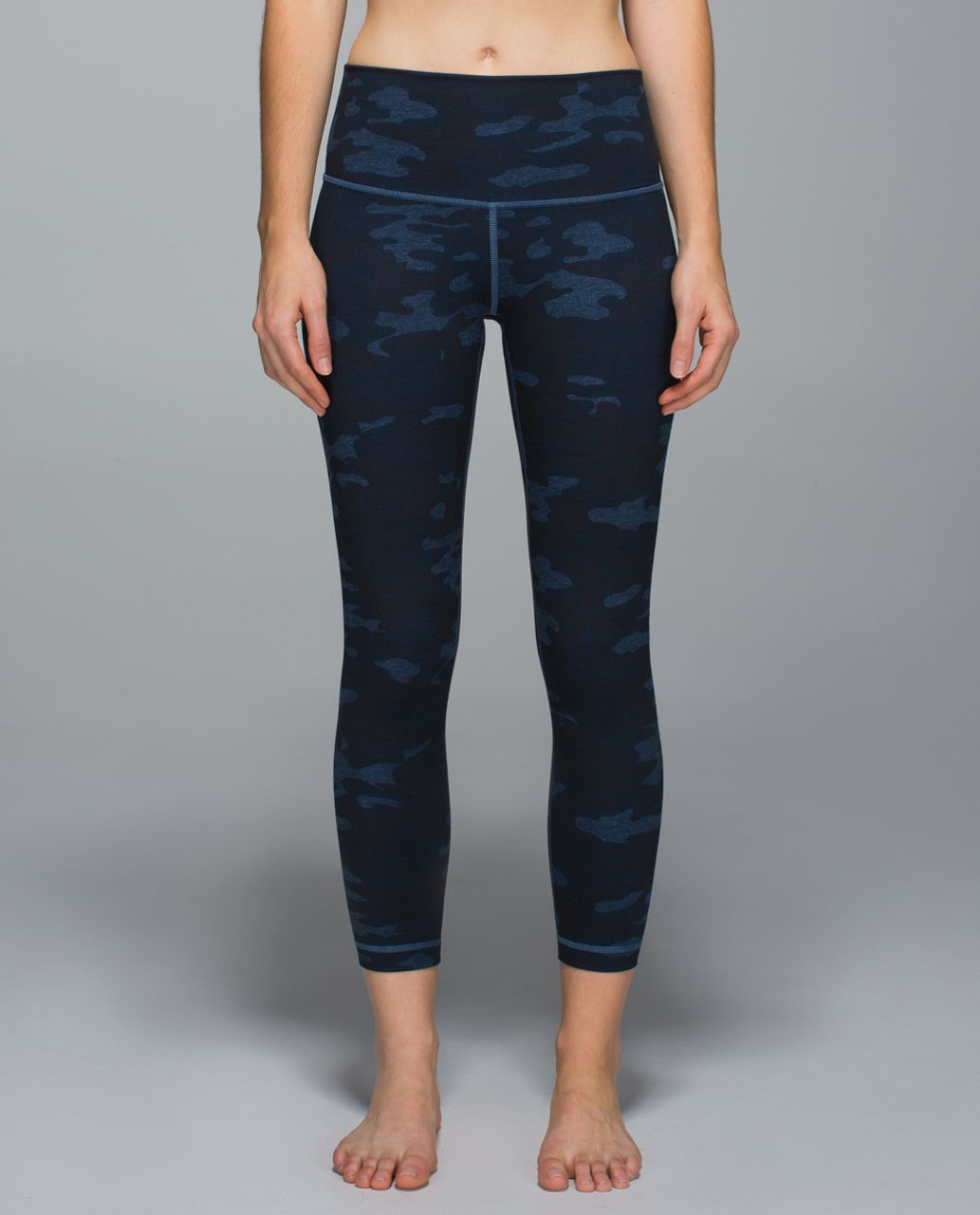 Lululemon High Times Pant *Full-On Luon - Heathered Texture Lotus Camo Oil Slick Blue