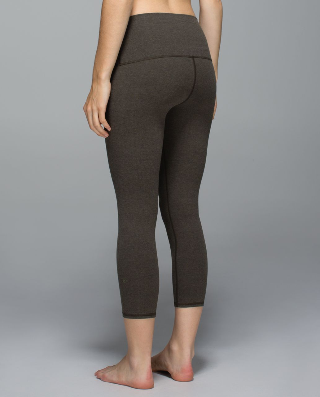 Lululemon Wunder Under Crop *Cotton (Roll Down) - Heathered Deep Camo