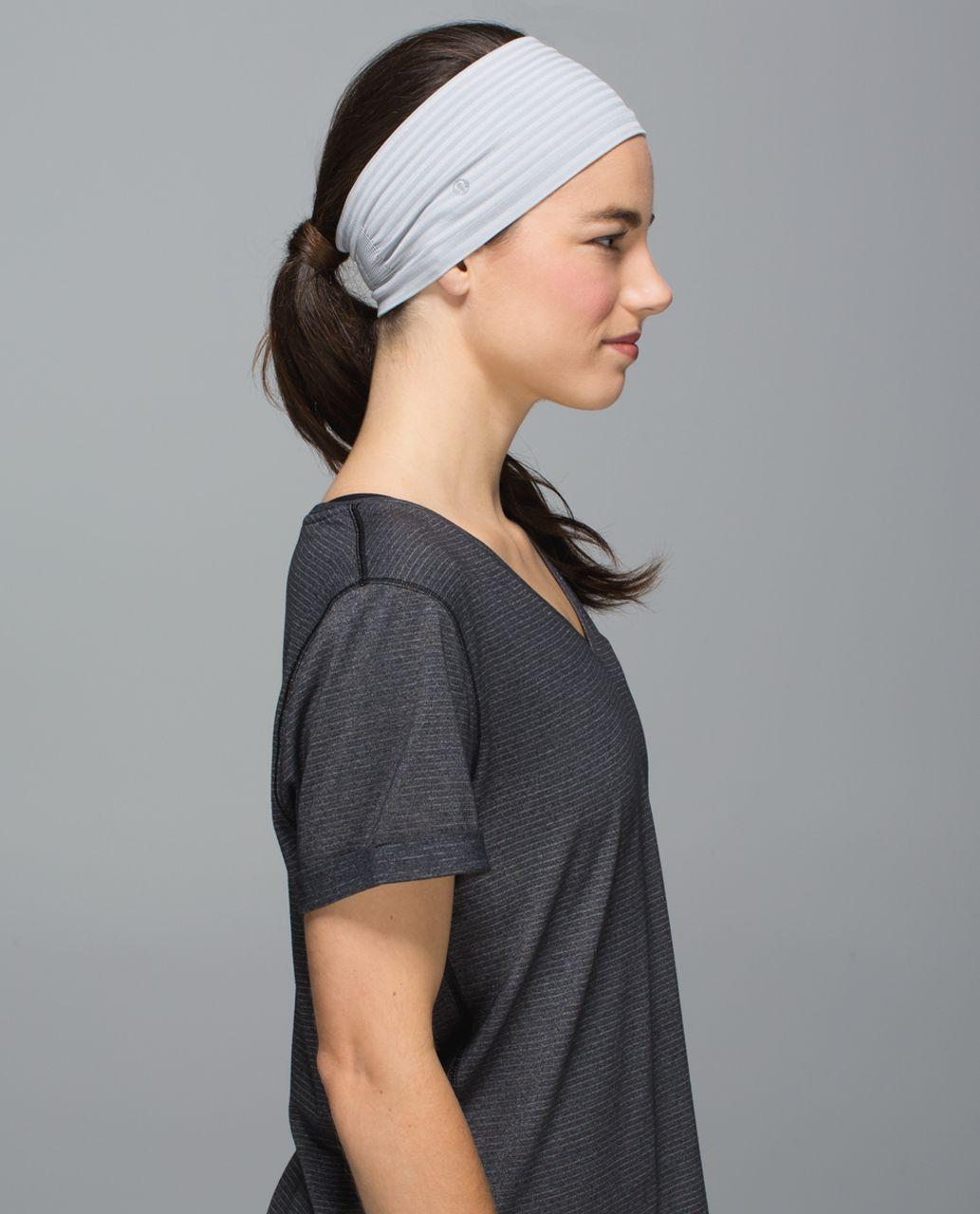 Lululemon Bangs Back Headwrap - Heathered Silver Spoon
