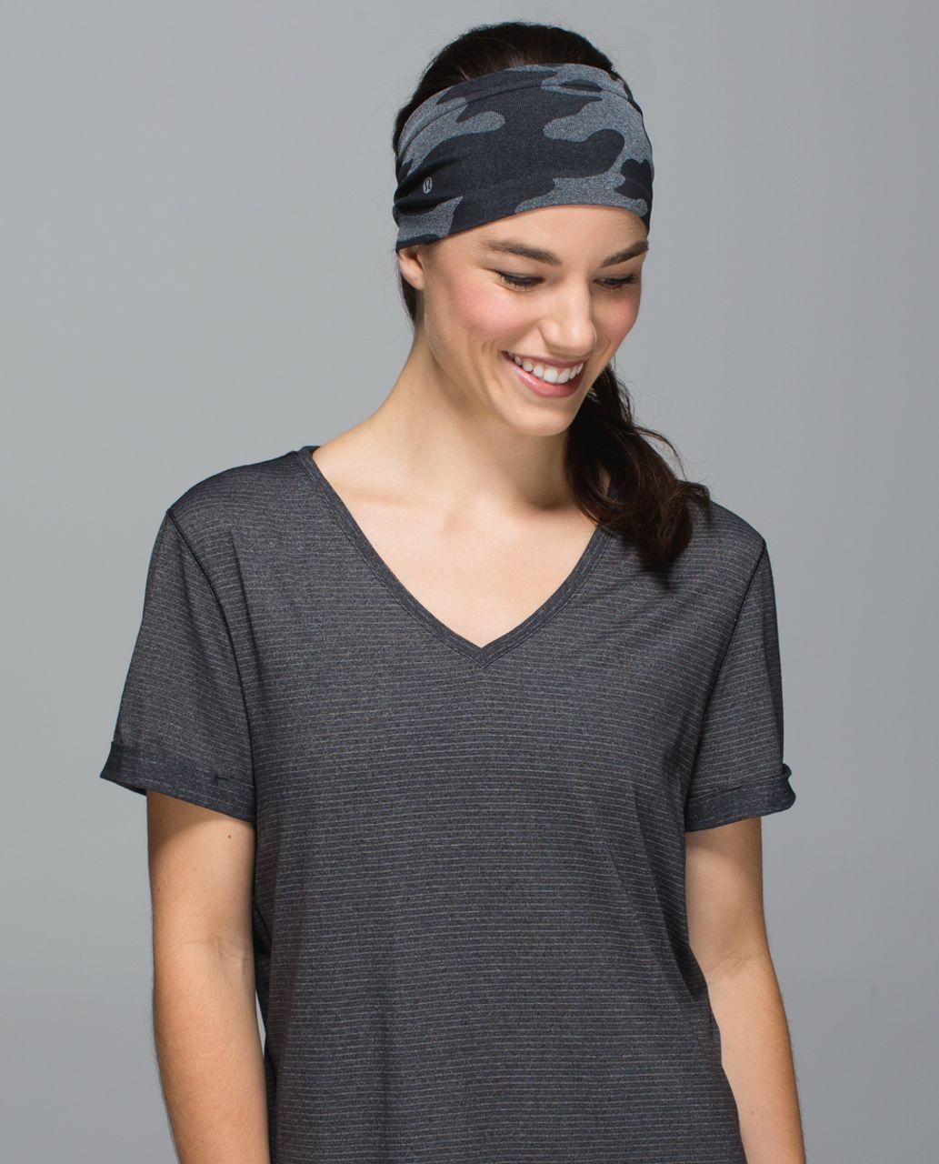 Lululemon Bangs Back Headwrap - Heathered Black (Camo)