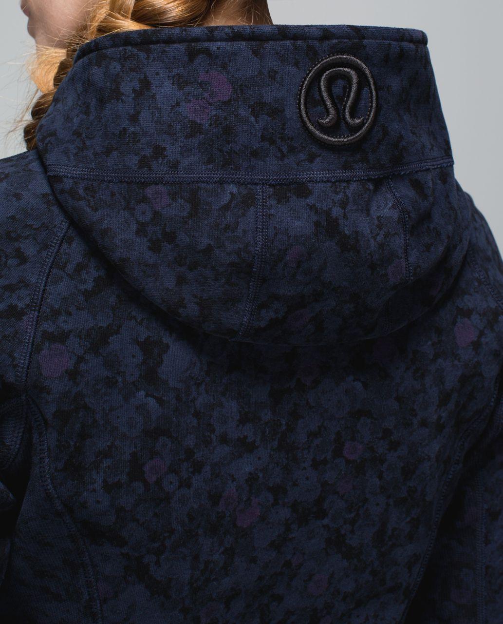 Lululemon Scuba Hoodie II - Biggie Prism Petal Inkwell Black / Inkwell
