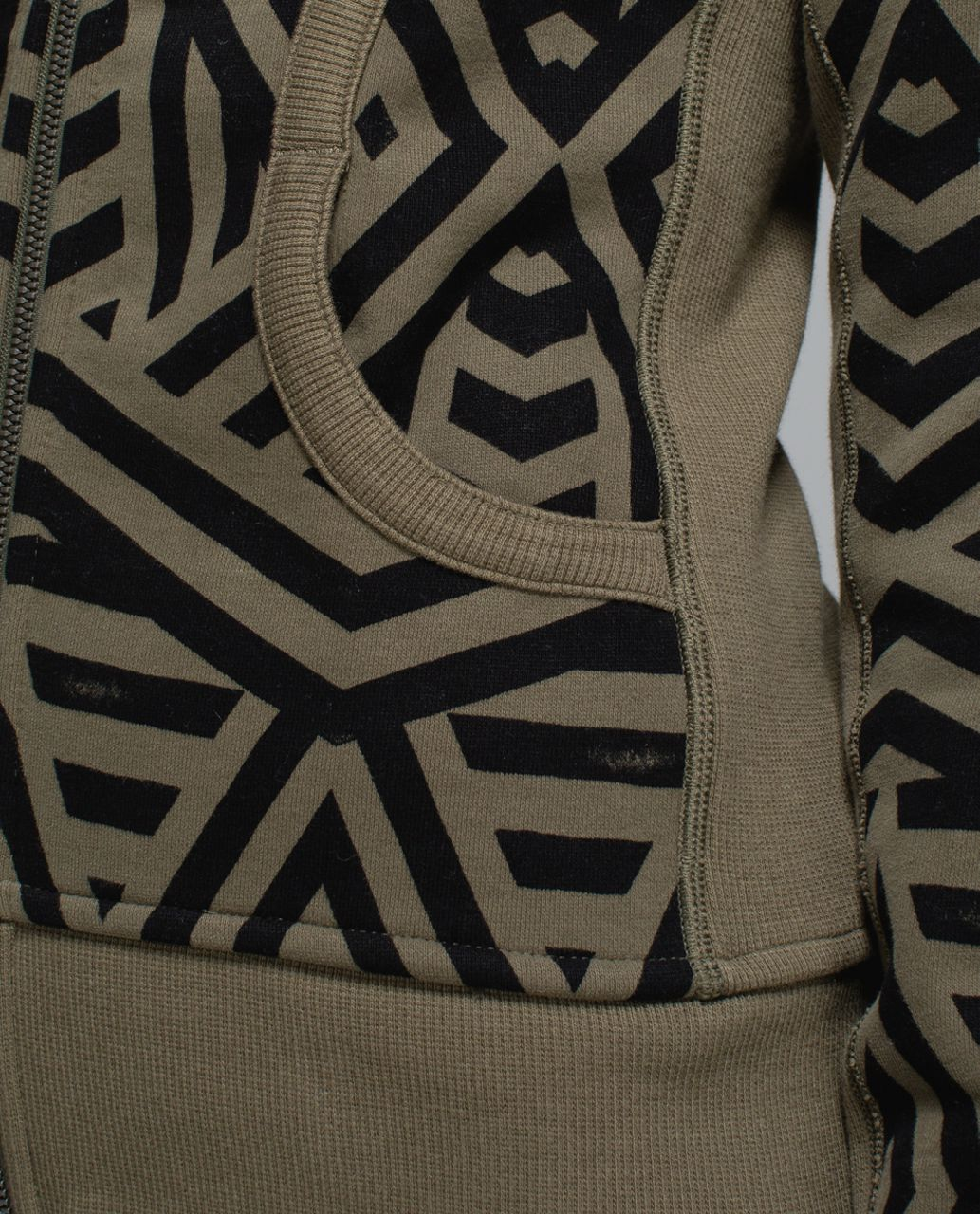 Lululemon Scuba Hoodie II - Chevron Shuffle Fatigue Green Black / Fatigue Green