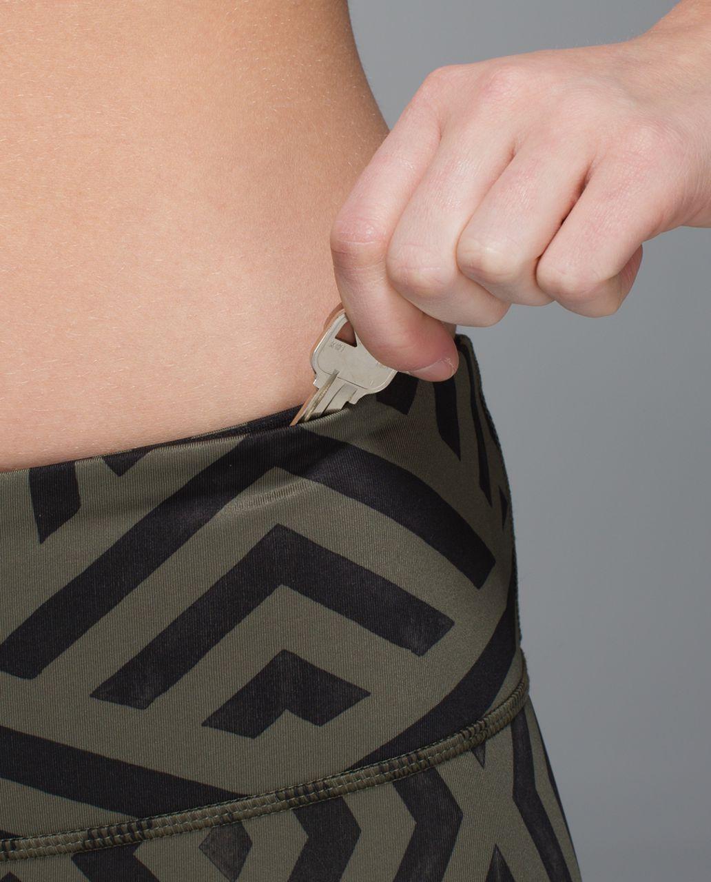 Lululemon Wunder Under Pant *Full-On Luxtreme - Chevron Shuffle Fatigue Green Black