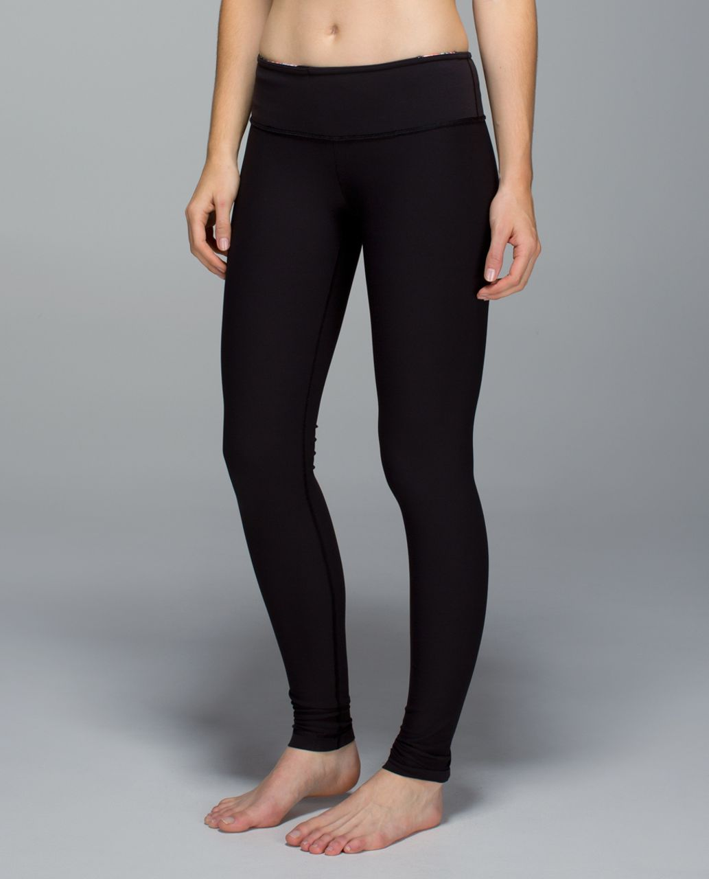 Lululemon Wunder Under Pant *Full-On Luon - Black / Wi14 Quilt 4