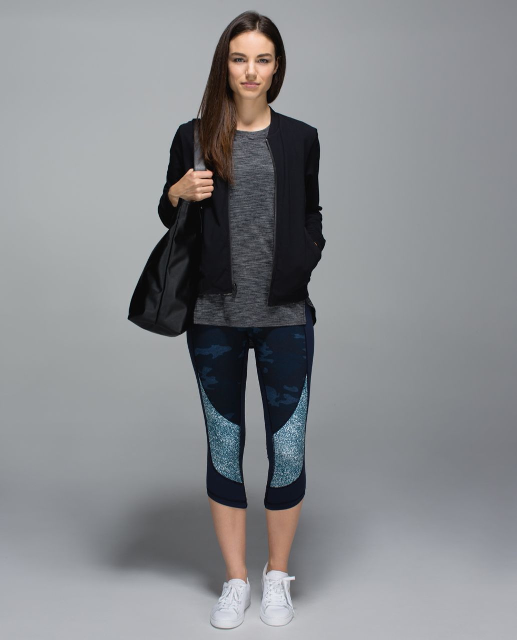 Lululemon Wunder Under Crop *Full-On Luon - Heathered Texture Lotus Camo Oil Slick Blue / Inkwell / Pebble Print Parfait Pink Alberta Lake
