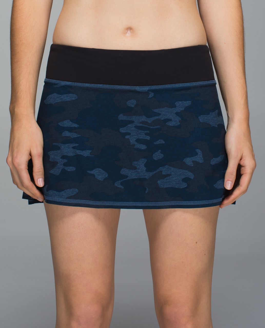 Lululemon Run:  Pace Setter Skirt *4-way Stretch (Regular) - Heathered Texture Lotus Camo Oil Slick Blue / Black