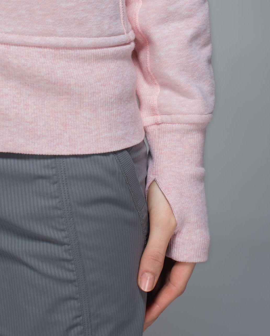 Lululemon Scuba Hoodie II - Heathered Parfait Pink / White