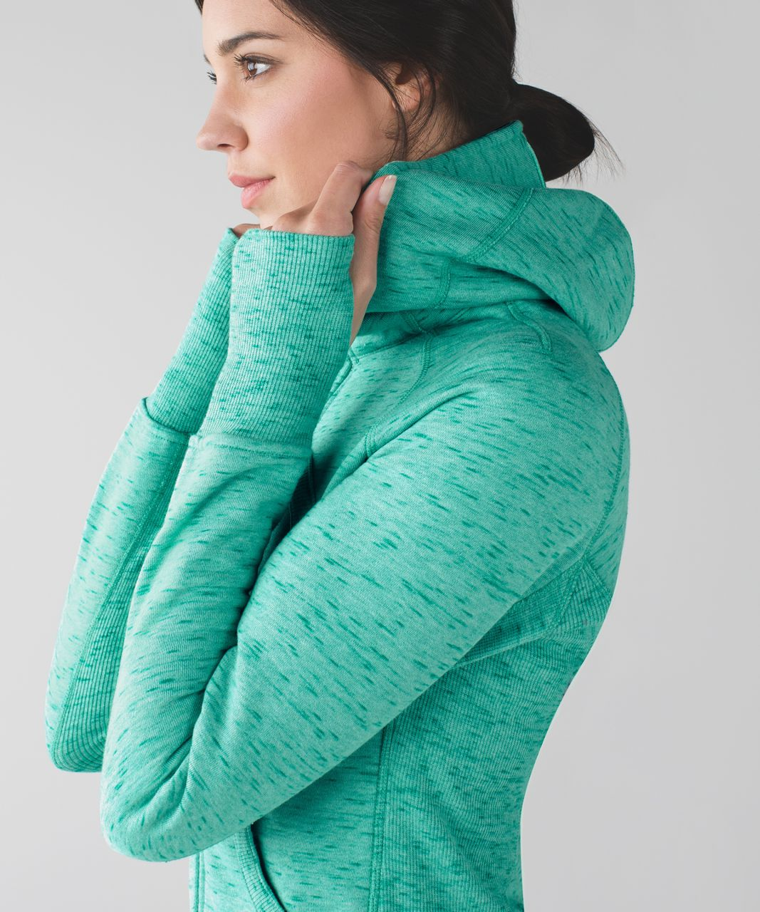 Lululemon Scuba Hoodie II - Heathered Rainforest Menthol