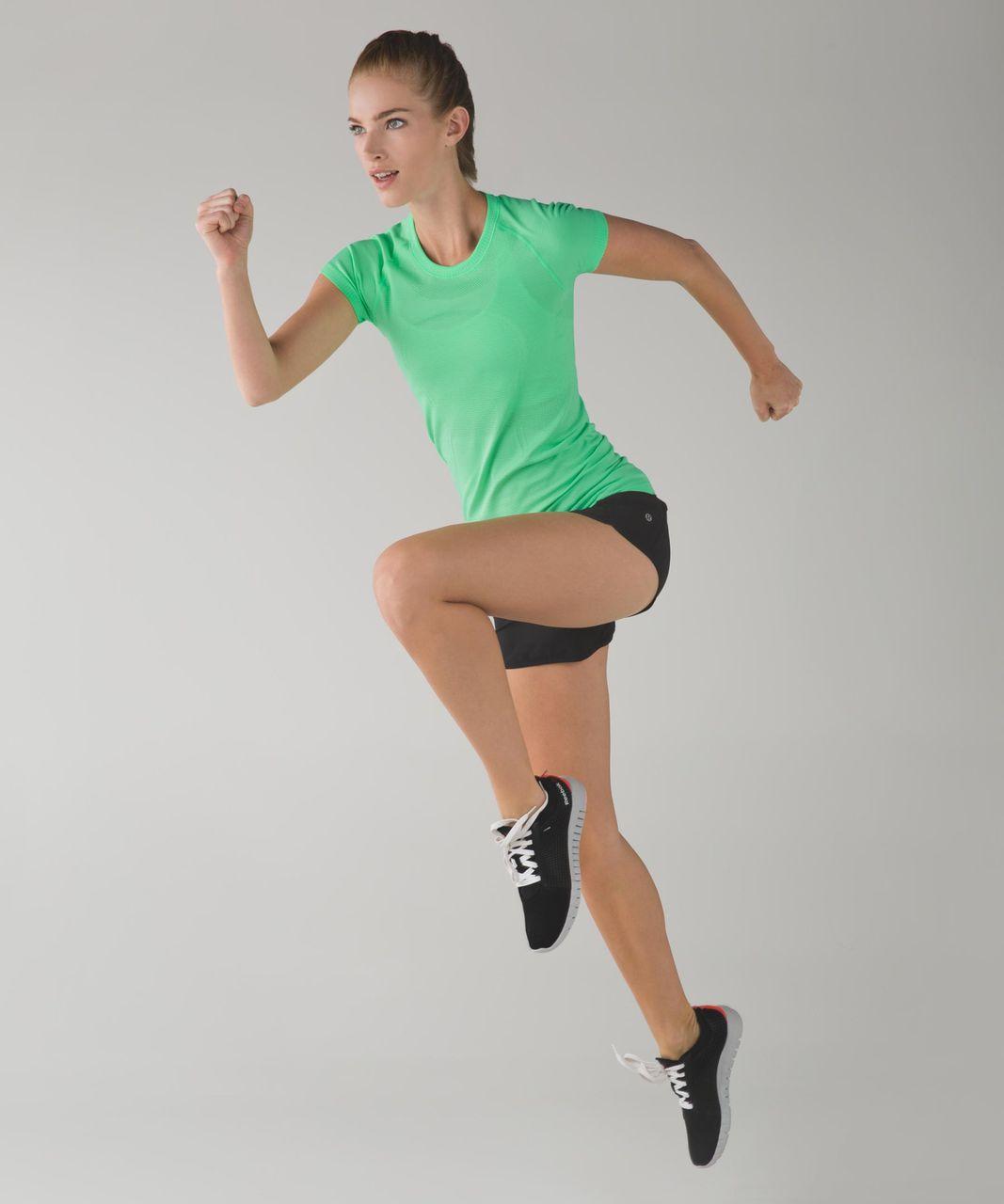 Lululemon Run:  Swiftly Tech Short Sleeve Crew - Heathered Scream Green