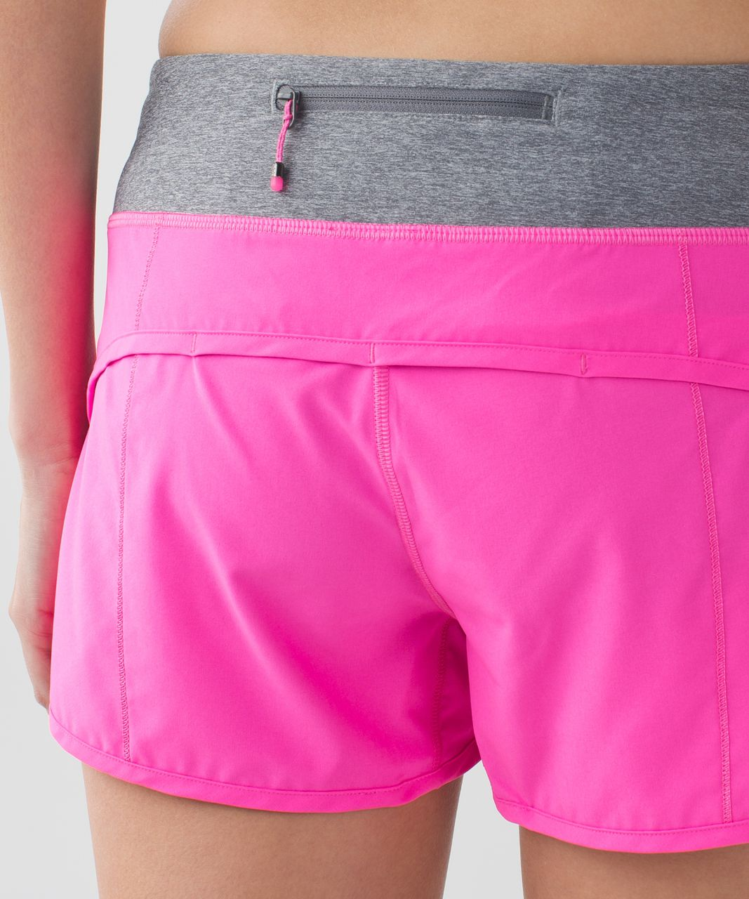 Lululemon Run Speed Short 4 Way Stretch Raspberry Glo Light Heathered Slate Lulu Fanatics