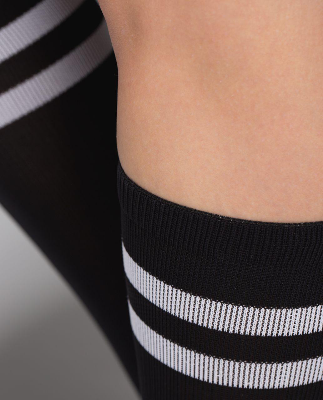 Lululemon Women's Keep It Tight Sock - Varsity Stripe Black White