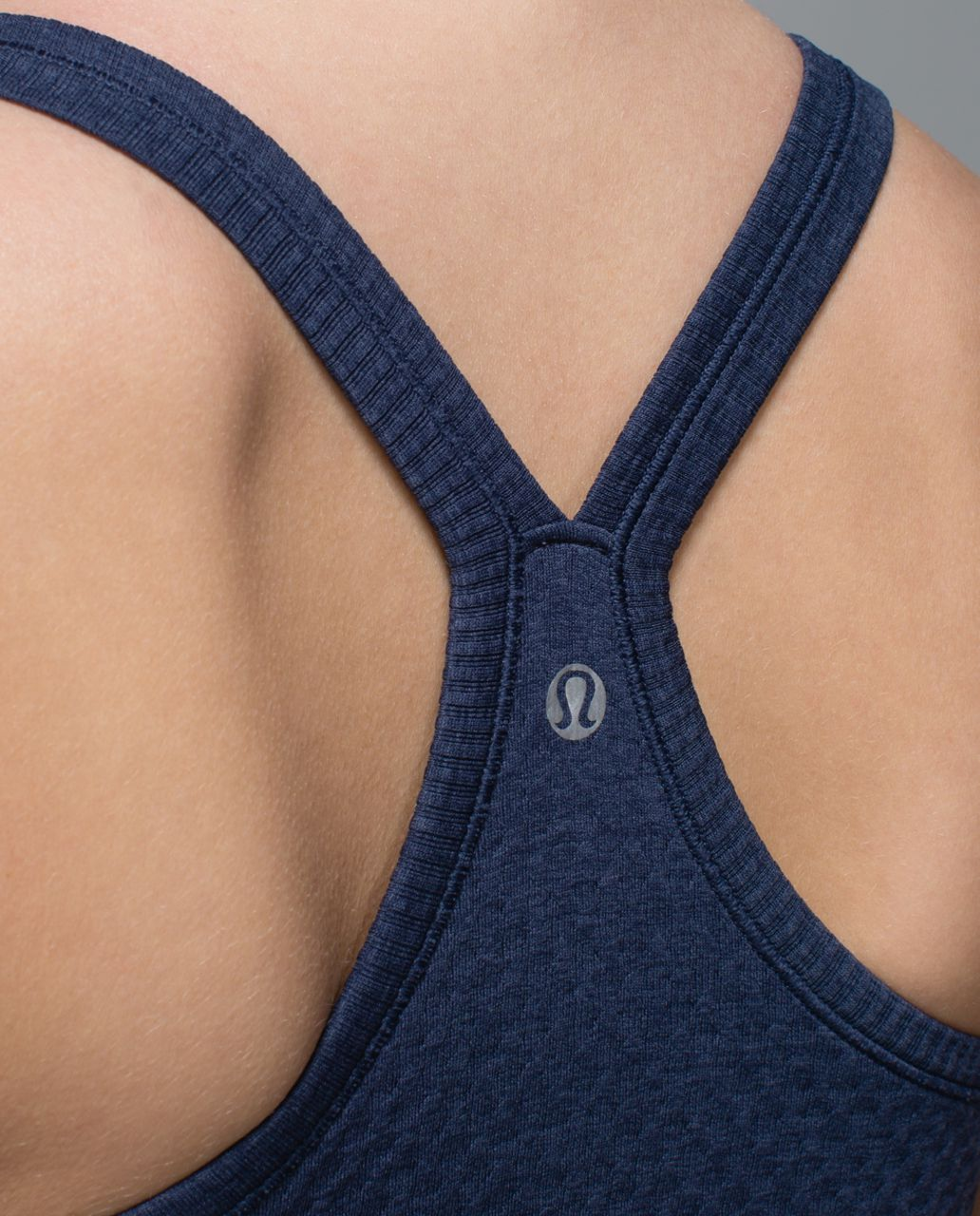 Lululemon Ebb To Street Tank - Heathered Deep Navy