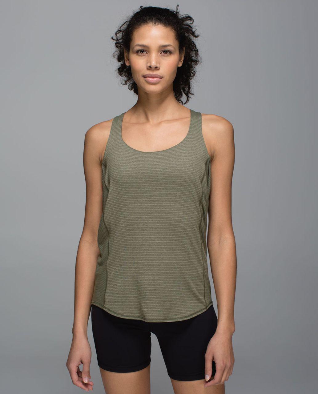 Lululemon Wild Tank - Heathered Fatigue Green / Mystic Jungle Fatigue Green Black