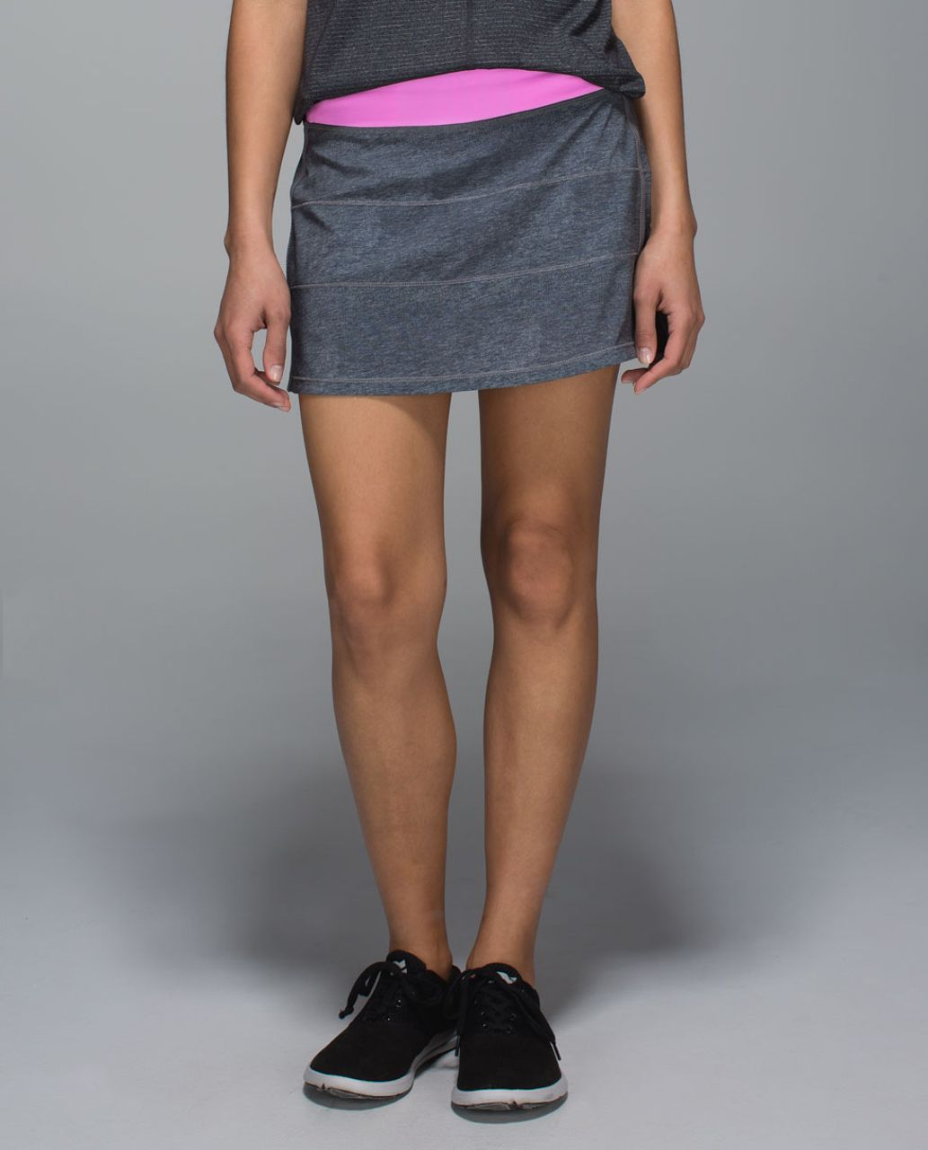 Lululemon Pace Rival Skirt II *4-way Stretch (Tall) - Heathered Texture Printed Greyt Deep Coal / Vintage Pink