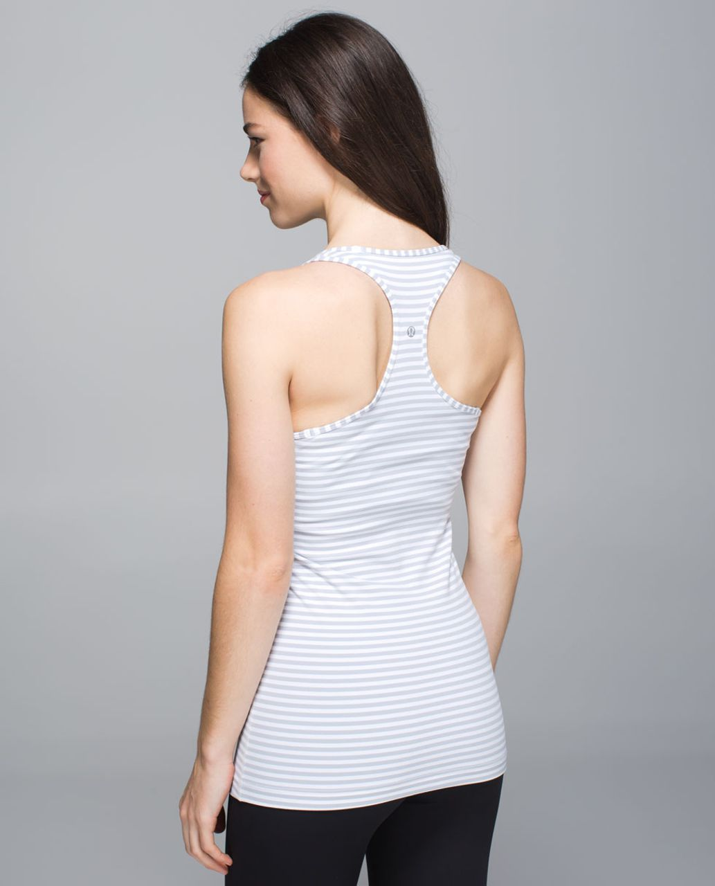 Lululemon Cool Racerback - Classic Stripe White Silver Fox