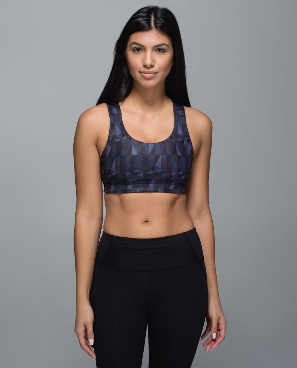 Lululemon All Sport Bra - Stained Glass Love Nightfall Black