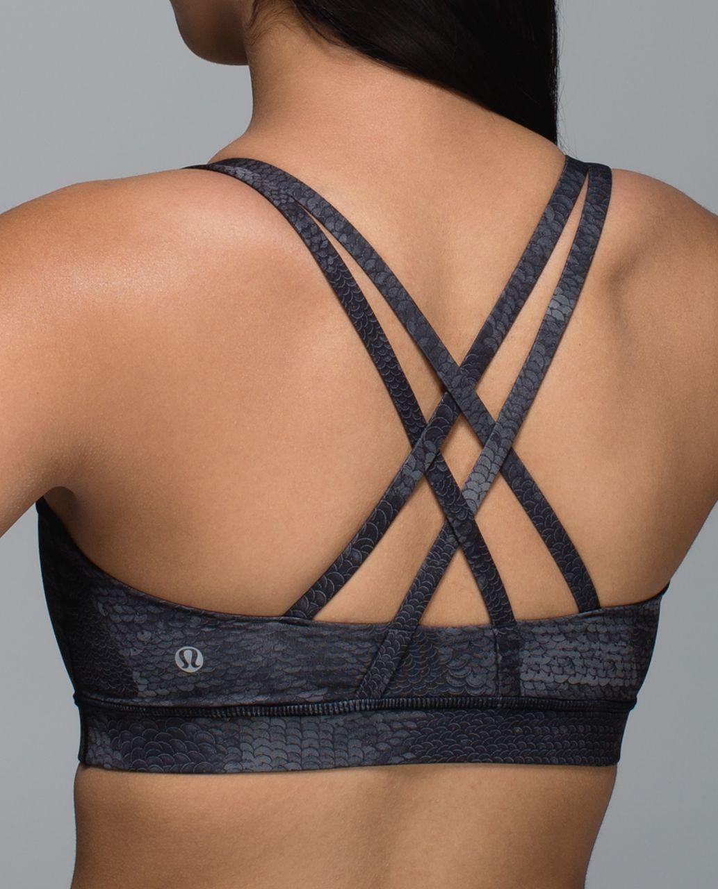 Lululemon Energy Bra - Sequin Snake Slate Black