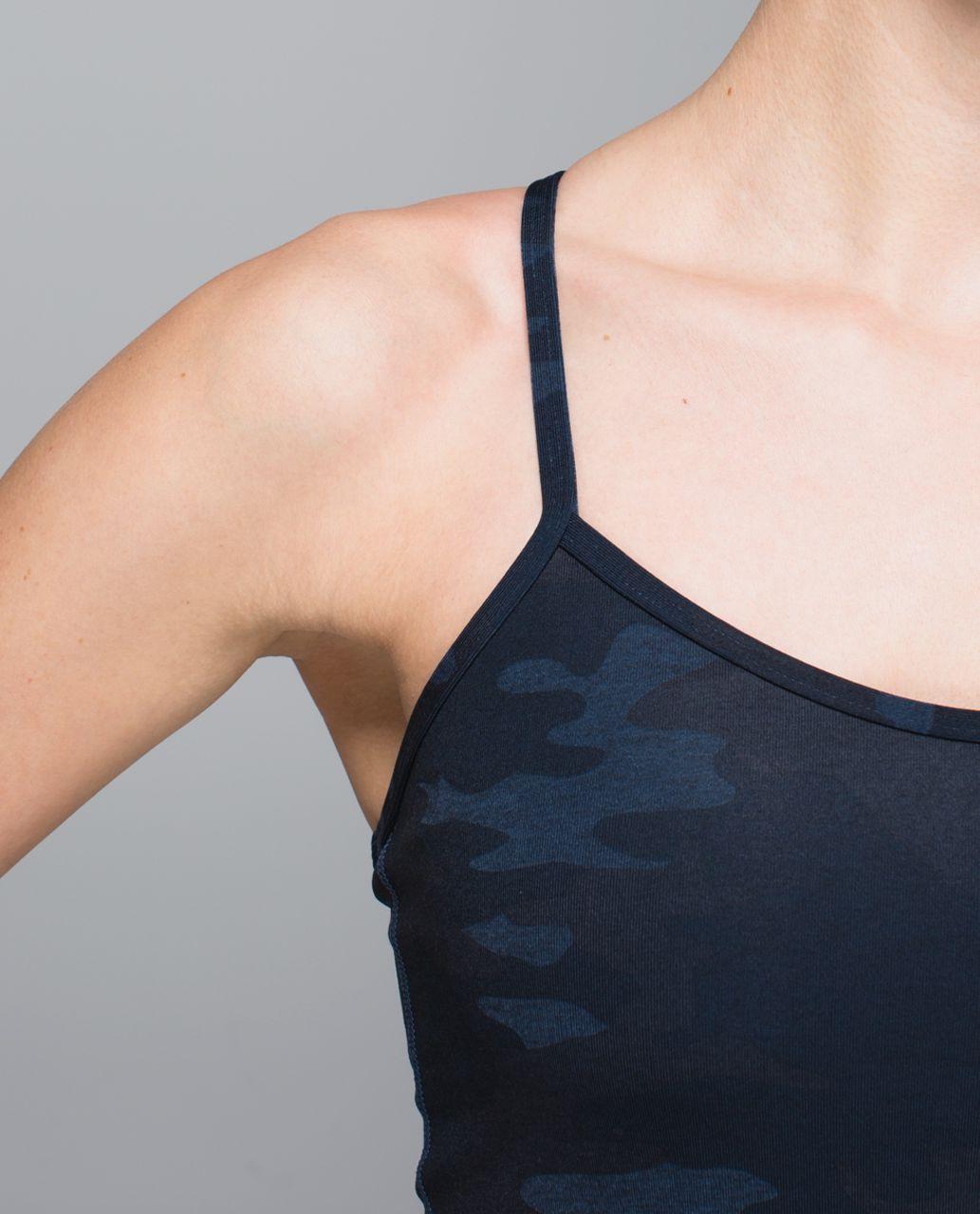Lululemon Power Y Tank *Luon - Heathered Texture Lotus Camo Oil Slick Blue