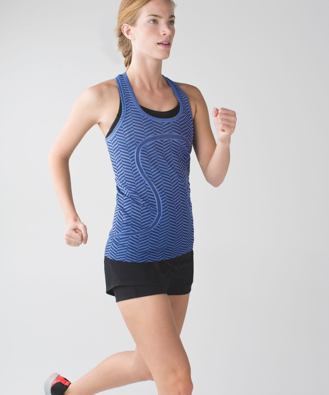 Lululemon Run:  Swiftly Tech Racerback - Heathered Harbor Blue