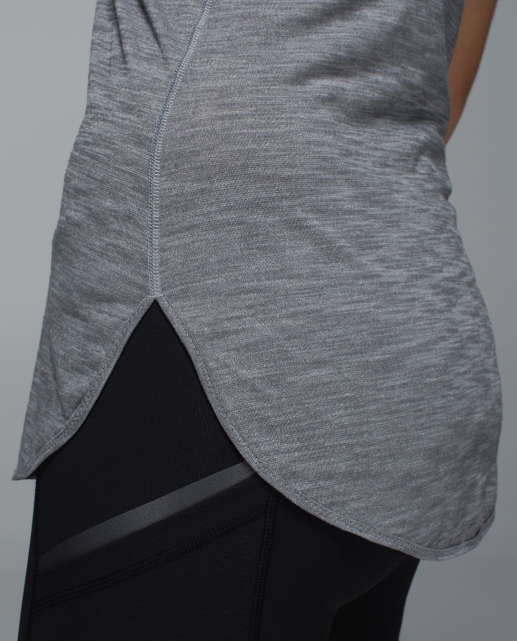 Lululemon What The Sport Singlet - Heathered Slate / Raspberry Glo Light