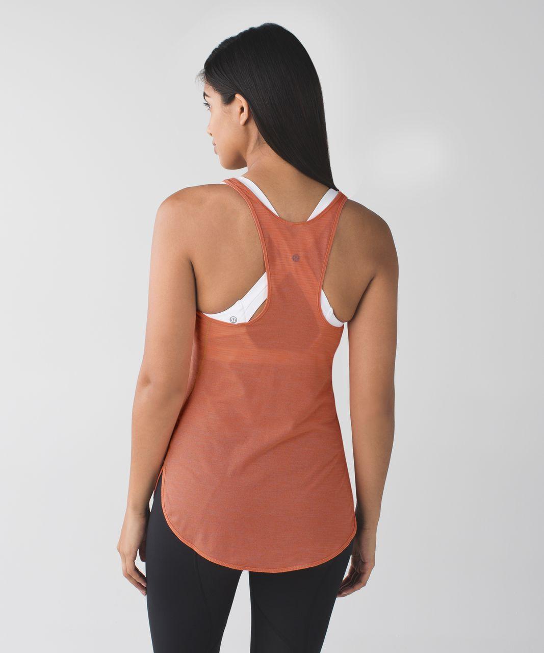 Lululemon What The Sport Singlet - Heathered Plum Peach