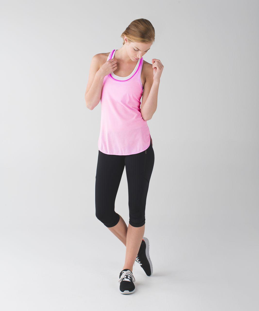 Lululemon What The Sport Singlet - Heathered Vintage Pink