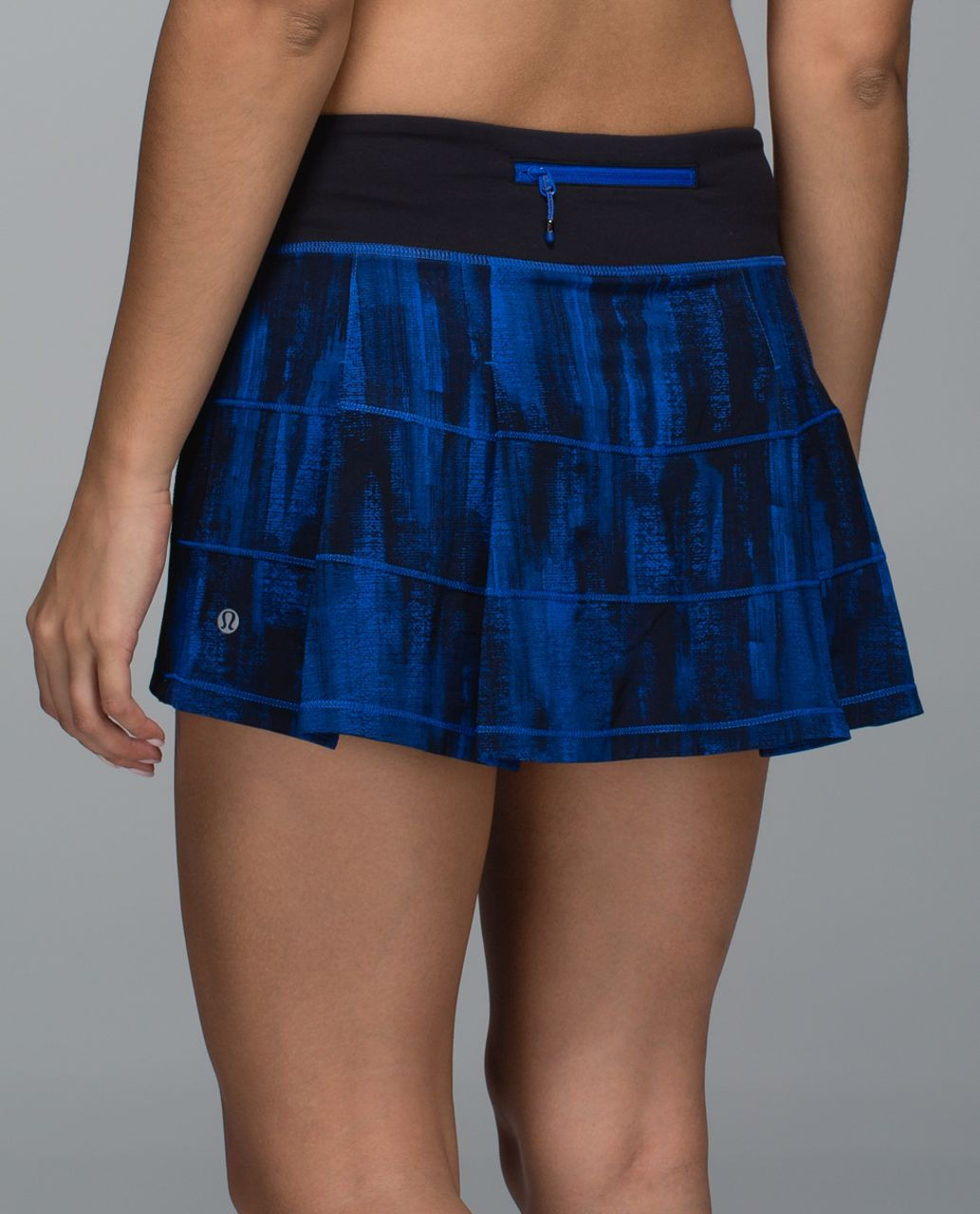 Lululemon Pace Rival Skirt II *4-way Stretch (Regular) - Nightsky White Harbor Blue / Black