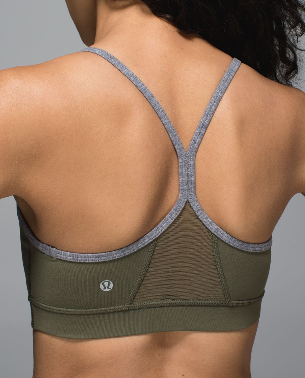 e6183533cb Lululemon Flow Y Bra IV - Fatigue Green - lulu fanatics