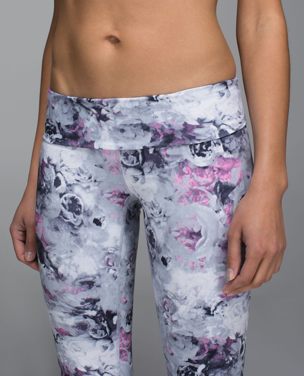 Lululemon Wunder Under Pant *Full-On Luon (Roll Down) - Moody Mirage White Deep Navy