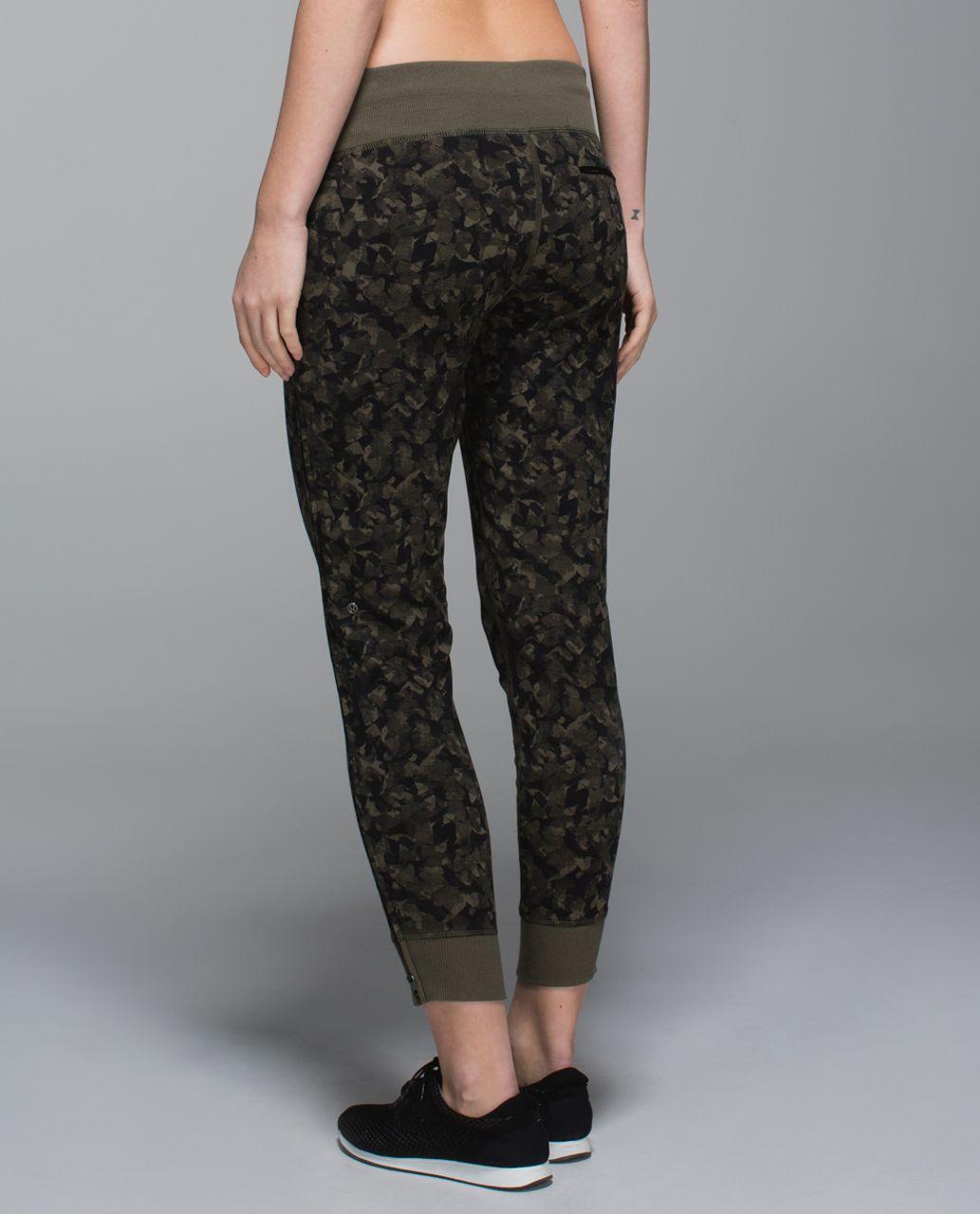 Lululemon No Sweat Pant - Mystic Jungle Fatigue Green Black / Fatigue Green