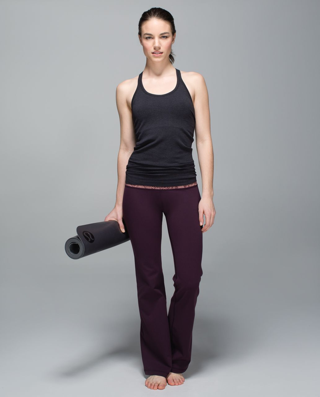 Lululemon Groove Pant II *Full-On Luon (Roll Down - Tall) - Black Cherry / Desert Snake Bark Berry Multi