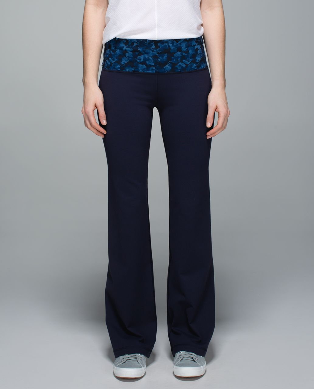 Lululemon Groove Pant II *Full-On Luon (Roll Down - Regular) - Naval Blue / Mystic Jungle Hawk Blue Harbour Blue