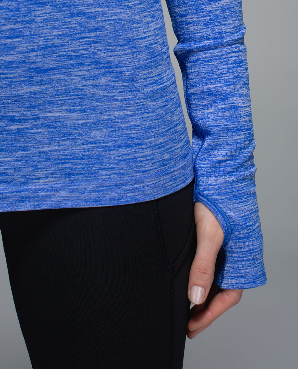 Lululemon Run:  Swiftly Tech Long Sleeve Crew - Space Dye Heathered Harbour Blue