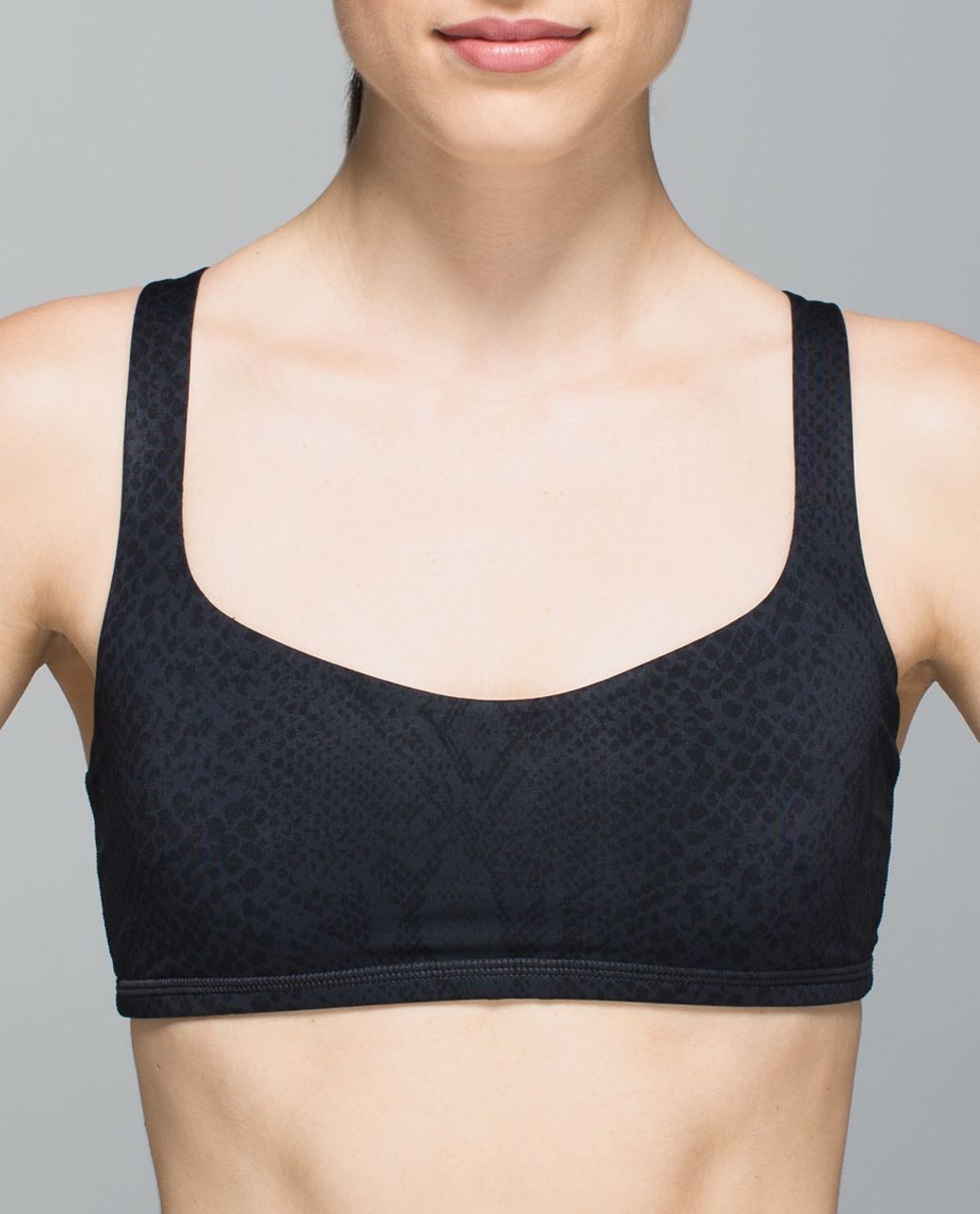 Lululemon Free To Be Bra - Desert Snake Deep Coal Black / Deep Coal
