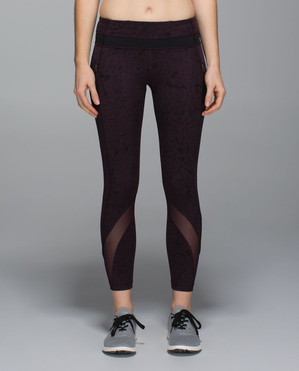 6c2c0e7666 Lululemon Inspire Tight II *Full-On Luxtreme (Mesh) - Star Crushed Black  Cherry Black / Black / Black Cherry - lulu fanatics
